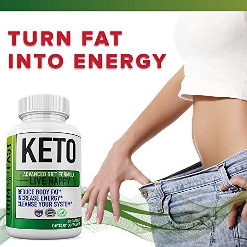 (3 Pack) Trim Fast Keto, Trim Fast Keto Pills - Keto Body Trim Fast Burn Supplement for Energy - BHB Ultra Boost Exogenous Ketones for Rapid Ketosis for Men Women 4