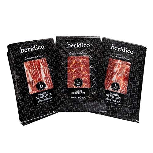 Pack de loncheados de Bellota 100% Ibéricos: 3 sobres Jamó