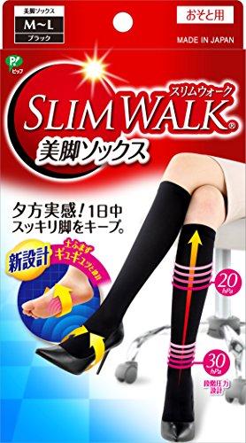 スリムウォーク 美脚ソックス M-Lサイズ ブラック(SLIM WALK,socks,ML) 着圧 ソックス