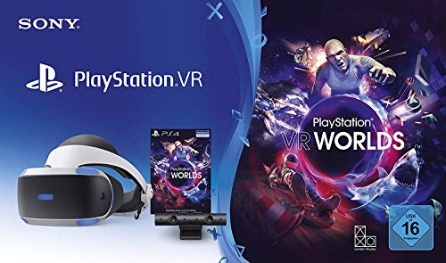 PlayStation 4 Virtual Reality + Camera + VR Worlds Voucher [neue PSVR Version]