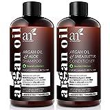 Artnaturals Moroccan Argan Oil Shampoo and Conditioner Set - (2 x 16 Fl Oz / 473ml) - Volumizing & Moisturizing - Gentle on Curly & Color Treated Hair