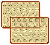 Macaron Silicone Baking Mat - Set of 2 Non Stick Silicon Macaroon...