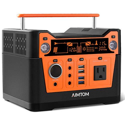 AIMTOM 300-Watt Portable Power Station - 280Wh Battery Powered...