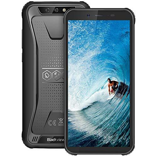 Téléphone Portable Incassable, Blackview BV5500Plus Smartphone Débloqué Antichoc Étanche Pas Cher 4G Android 10, 32Go+3Go, 4400mAh, 5.5 Pouces, 8MP+5MP, Dual Sim/NFC/Gyroscope/GPS-Noir