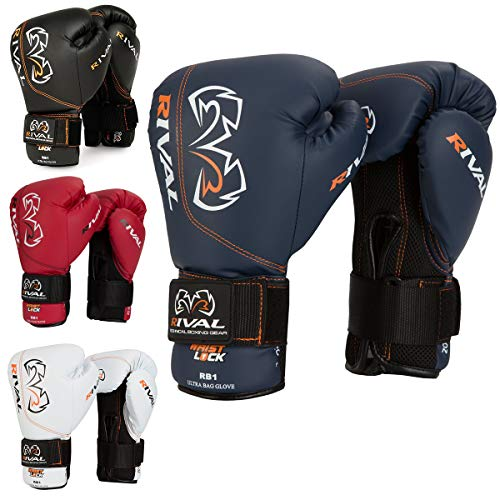RIVAL Boxing RB1 Hook and Loop Ultra Bag Gloves - 14 oz - Navy