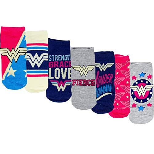 Wonder Woman Sock of the Week - Calzini assortiti da donna, confezione da 7 paia
