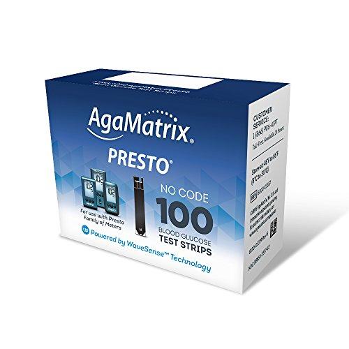 WaveSense Presto Test Strips, 100 Count
