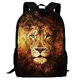 Lawenp Lion Fire Art Kids School Mochila Bolsa de Viaje Ligera para niñas Estudiantes