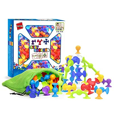 50 PIECE JUMBO SET - Sorting and stacking toys, for developing fine motor skills and preschool learning. Sensory toys for smooth safe touch, focus, and concentration using primary colors, similar to, stacking cups, &, mega blocks, as, suction cup toy...