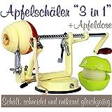 Éplucheur à pommes Made for us professionnel en aluminium, avec coupe-pomme,...