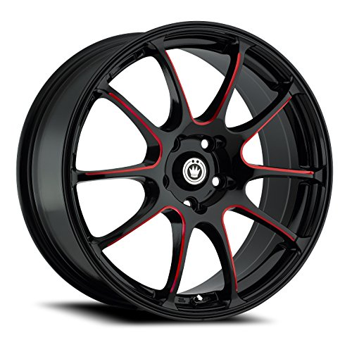 Konig Illusion Black Ball Cut Red Wheel (17x7'/5x114.3mm)