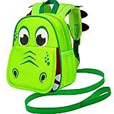 Toddler Backpack Leash, 9.5' Safety Harness Dinosaur Bag - Removable Tether