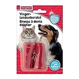 BEAPHAR - Brosse à dents doigtier – Brossage des dents chien...