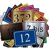 Plaque De Numéro De Rue - Numéro De Maison PVC – Plaque Gravée À Personnaliser 15 x 10 cm – 21 Couleurs Disponibles