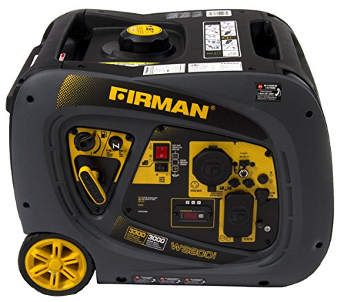 Firman W03081 3300/3000 Watt Recoil Start Gas Portable Generator cETL and CARB Certified