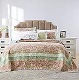 Barefoot Bungalow Palisades Pastel Bedspread Set, 3-Piece, Queen