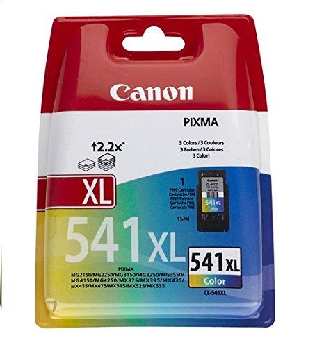 Canon 541XL | 3 kleuren cartridge | XL Cartridge met 15 ml inkt | Voor levensechte kleuren