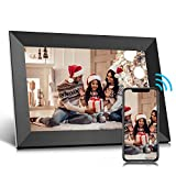 Jeemak Digital Picture Frame 10.1 inch WiFi Photo Frame with HD Touch Screen Auto-Rotate Share...
