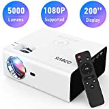 AZEUS RD-822 Video Projector, 5000 Lux Support 1920x1080 with Built-in 5W Sound Speaker, Compatible...