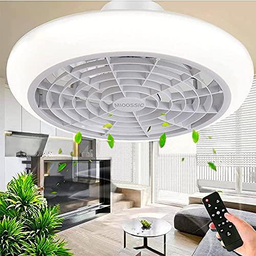 Ventilatore da Soffitto con Luce e Telecomando Dimmerabile Ventilatore a LED Invisibile Moderno e Creativo 3 velocit del Vento Regolabile
