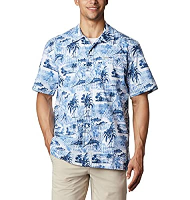 ISLAND SHIRT: Created for functional summer style, you'll find the Columbia Men's Trollers Best Short Sleeve Shirt rolls from indoor attire to outdoor fun with ease. STAY COOL: Add this printed button-up shirt with a hidden back vent to your hot-weat...
