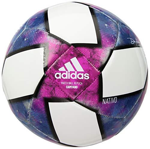 adidas Conext 19 Capitano Soccer Ball, White/Black/Purple, 5