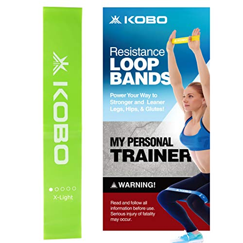 "AC-35 Resistance Loop Band 2"" Wide for Squats, Hips & Glutes, Yoga, Crossfit, Stretching, Strength Training, Physical Therapy for Men & Women - Includes Travel Bag & Workout Guide Booklet"