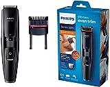 Philips BT5200/16 Tondeuse Barbe avec lames en métal et peigne intégré, noir