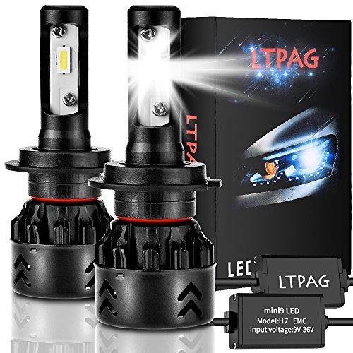 Lampadina H7 Led, CSP 72W 12000 LM Fari Abbaglianti o Anabbaglianti per Auto Kit - Sostituzione per Luci Alogene o Lampade Hid Lampada Luminosa - 2 Anni Di Garanzia