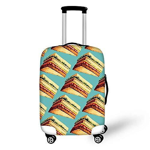 MEIMEIDA Luggage Cover Copertine per valigie Carrello Bagaglio Protettivo Astuccio personalit Cibo Stampare Ragazzo Ragazza Modello Viaggio Bagaglio Copertura Antipolvere H-M(22-24in)