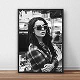 BailongXiao Cartel música Cantante Estrella Arte Lienzo Pintura al óleo Cartel Imagen de la Pared Chica Dormitorio decoración,Pintura sin marcoCJX3386-80X120cm
