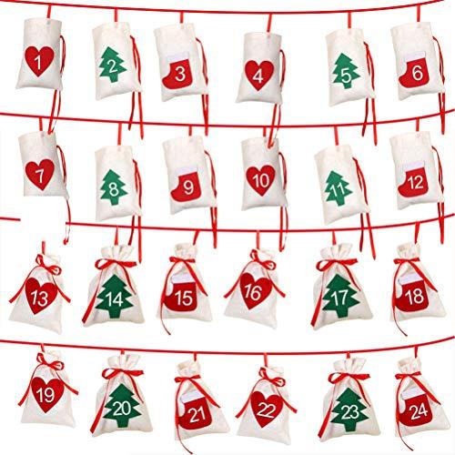 Shenruifa 2020 - Calendario de Adviento para Navidad con cuerda de regalo