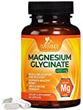 Magnesium Glycinate Capsules High Absorption 100% Chelated 400mg - Highly Concentrated Mag Supplement - Made in USA - Best Vegan Stress Support, Sleep, Muscle Cramps & Relaxation - 60 Capsules
