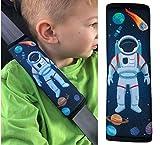 HECKBO 1x Astronaut Espace voiture protège-ceinture, ceinture de sécurité, protection épaule, coussin pour épaule, épaulière, siège enfant, siège auto, siège vélo enfants garçons garçon