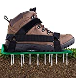 Ohuhu Lawn Aerator Shoes with Hook & Loop Straps, All New Unique Design Free-Installation Heavy Duty Spiked Aerating Sandals, One-Size-Fits-All & Easy to Use for Yard Patio Lawn Garden