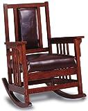 Coaster Home Furnishings CO-600058 Rocking Chair, Tobacco & Dark Brown