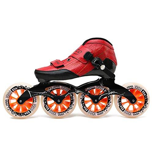 AA- skates LBX Pattini in Linea Professionali per Adulti, 4 * 90-110MM Derby Ruote Rollerblade...