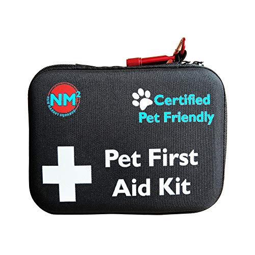 Pet First Aid Kit for Dogs & Cats | 45 Piece First Aid Bag for Pets, Animals | Perfect for Travel Emergencies with Pet First Aid Guide Book and Instructions | Certified Pet Friendly
