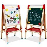 Chevalet pour Enfants avec Rouleau de Papier Tableau Blanc et Tableau Noir...
