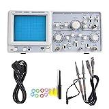 Oscilloscope Kit 20MHz 2 Channel High Sensitivity Dual Channel Trace Analog Oscilloscope 220V(EU)