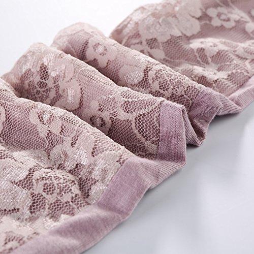 JISEN Women Long Sunscreen Gloves Lace Floral Half Finger Outdoor Arm Sleeves