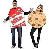 Fun World Unisex Cookies & Milk Adult Cstm, Mulricolor, Standard