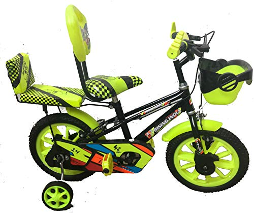 """Rising India 14"""" Sports Kids Bicycle for 3-5 Years with Full Chain Cover -Semi Assembled"""
