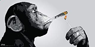 Culturenik Steez Monkey Smoking a Joint Decorative Music Urban Graffiti Art Poster Print