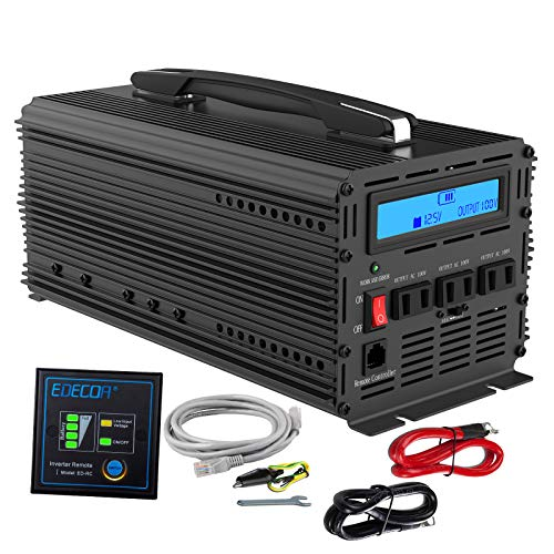 インバーター 12V 2000W DC 12Vを100V 110V ACへ変換 50Hz/60Hz LCDディスプレイ及びリモコン搭載 ハンドル...
