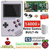 TAPDRA Raspberry Pi Zero Handheld Portable Game Console, RETROFLAG GPi Case with Safe Shutdown, 128GB Fast Card with 14000+ Games, Customized Retropie Emulation Game Station