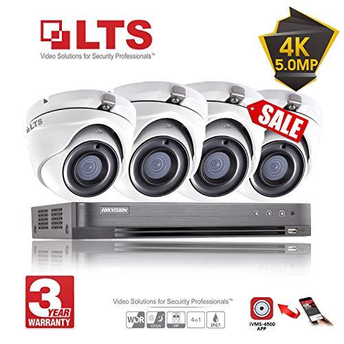 Hikvision 5Mp Cctv Security Surveillance System 4K Dvr 4Ch H.265+ Hik 5 Mp 4 Channel 2.8Mm Camera Outdoor Night Vision Kit Uk Seller Ds-7204Huhi-K1 Ds-2Ce56H1T-Itm (Full Kit + 4 Cameras + No Hdd)