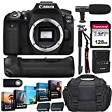 Canon EOS 90D DSLR Digital SLR Camera Body Only Kit and Deluxe Gadget Bag Bundle + Battery Grip + Microphone + Monopod + 128GB Memory Card + 5-Pack Photo/Video Editing Software & Accessories