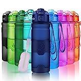 Bouteille d'eau 500 ml, Sans BPA & Anti Fuite, Bouteilles eau Pour enfants / adultes, réutilisable, Gourdes...