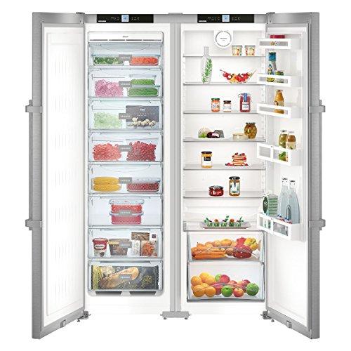 Liebherr SBSef 7242 Comfort NoFrost frigorifero side-by-side Libera installazione Argento 634 L A++